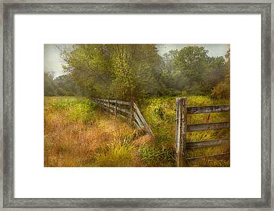 Country - Landscape - Lazy Meadows Framed Print by Mike Savad