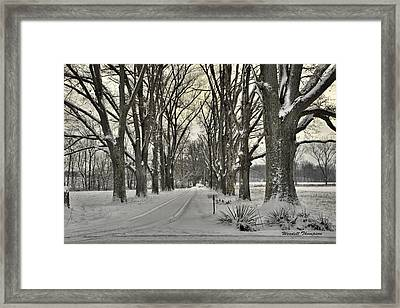 Country Lane In Winter Framed Print by Wendell Thompson