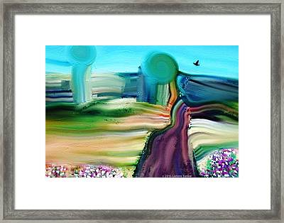 Country Lane Framed Print by Lenore Senior