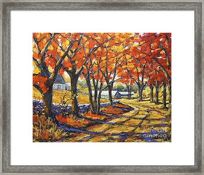 Country Lane Sentinels  Created By Prankearts Framed Print by Richard T Pranke
