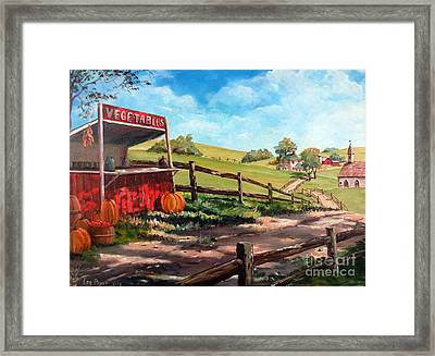 Country Life Framed Print by Lee Piper