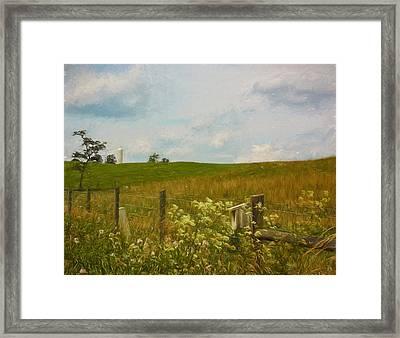 Country Meadow Framed Print by Kim Hojnacki
