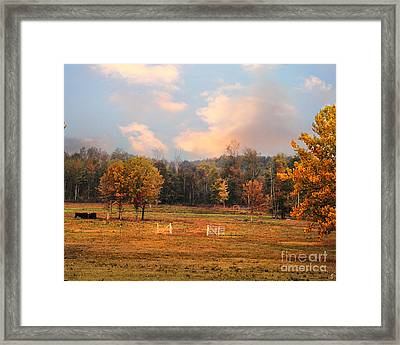 Country Morning Framed Print by Jai Johnson