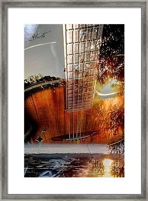 Country Music Digital Guitar Art By Steven Langston Framed Print by Steven Lebron Langston