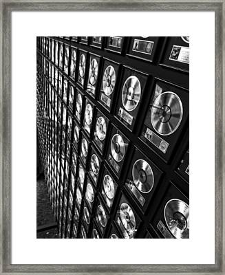 Country Music Records Framed Print by Dan Sproul