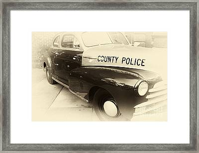 Country Police Antique Toned Framed Print by John Rizzuto