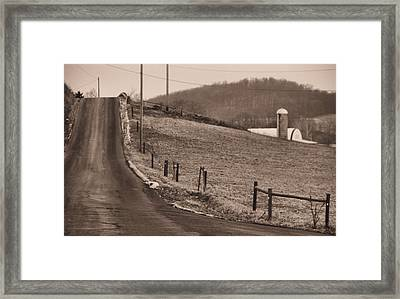 Country Road Framed Print by Dan Sproul