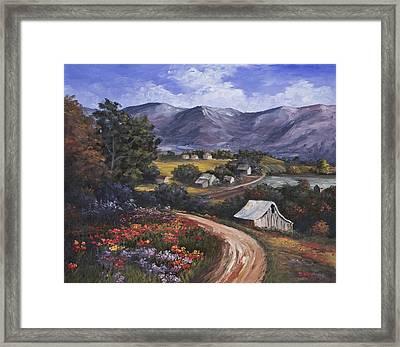 Country Road Framed Print by Darice Machel McGuire