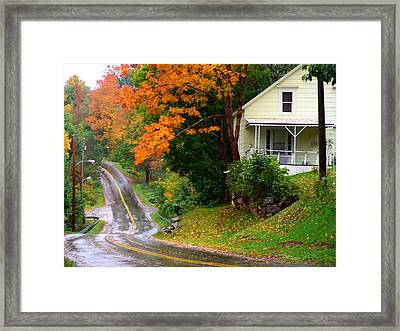 Country Road Framed Print by George Cousins