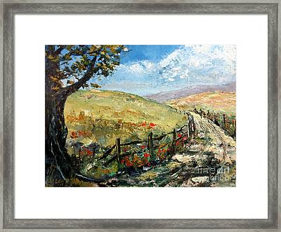 Country Road Framed Print by Lee Piper