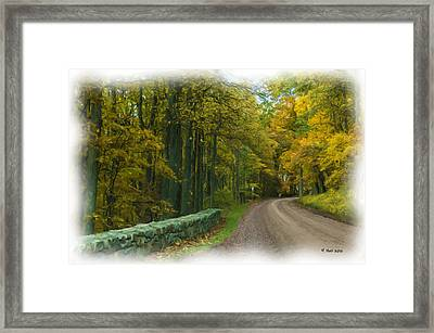 Country Road Framed Print by Lisa and Norman  Hall