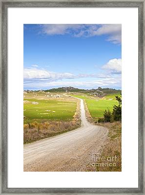 Country Road Otago New Zealand Framed Print by Colin and Linda McKie