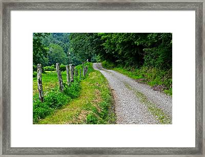 Country Road Framed Print by Frozen in Time Fine Art Photography