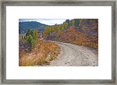 Country Road Framed Print by Steve Ohlsen