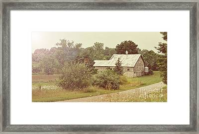 Country Road - Take Me Home Framed Print by Brian Mollenkopf