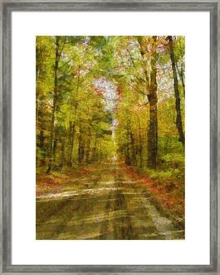 Country Road Take Me Home Framed Print by Dan Sproul