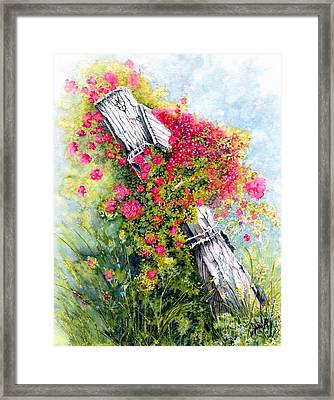 Country Rose Framed Print by Janine Riley