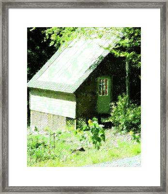 Country Shed Framed Print by Florene Welebny
