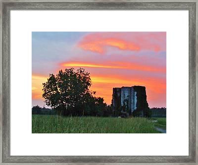 Country Sky Framed Print by Cynthia Guinn
