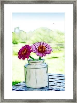 Country Still Life Framed Print by Kaye Menner