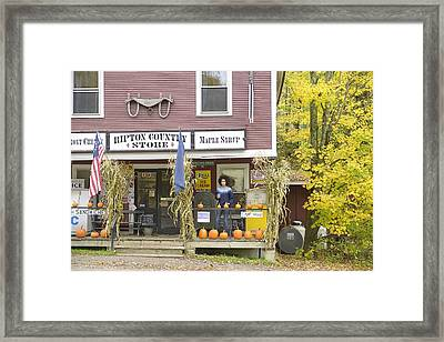 Country Store Framed Print by Christian Heeb
