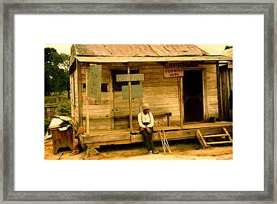 Country Store Natchitoches Louisiana Framed Print by Marion Wolcott