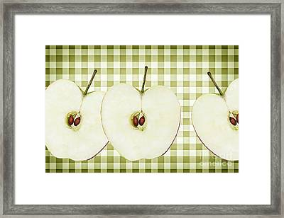Country Style Apple Slices Framed Print by Natalie Kinnear