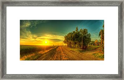 Country Sunrise Framed Print by  Caleb McGinn