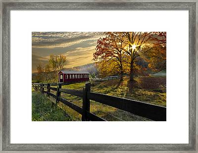 Country Times Framed Print by Debra and Dave Vanderlaan
