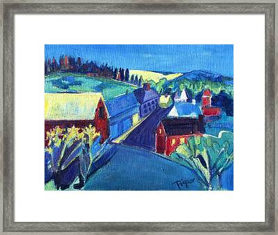 Country Village Framed Print by Betty Pieper