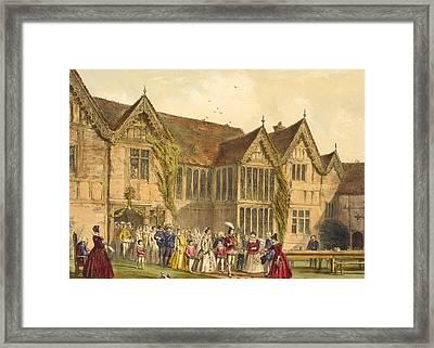 Country Wedding, Ockwells Manor Framed Print by Joseph Nash