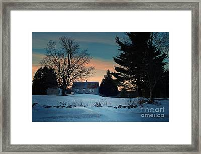 Countryside Winter Evening Framed Print by Joy Nichols