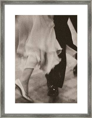 Couple Ballroom Dancing Legs Framed Print by Beverly Brown