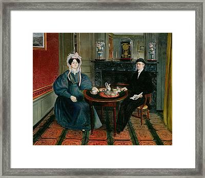 Couple Having Tea, C.1830 Framed Print by French School