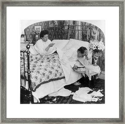 Couple In Bed, C1907 Framed Print by Granger