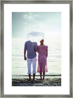 Couple On The Beach Framed Print by Joana Kruse