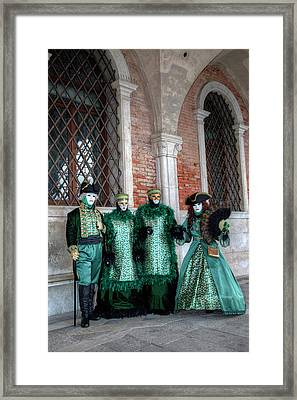 Couples All Dressed Up Venice Framed Print by Darrell Gulin
