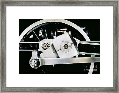 Coupling Rod And Driver Wheels For A Steam Locomotive Framed Print by Wernher Krutein