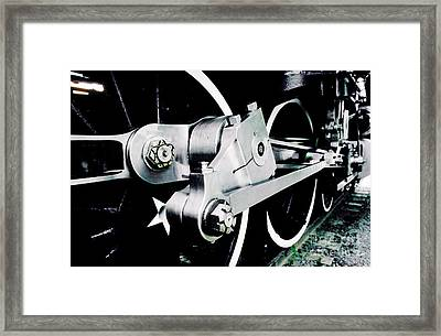 Coupling Rods And Driver Wheels For A Steam Locomotive Framed Print by Wernher Krutein