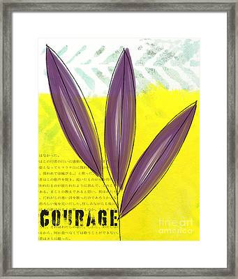 Courage Framed Print by Linda Woods