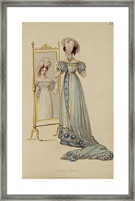 Court Dress, Fashion Plate Framed Print by English School