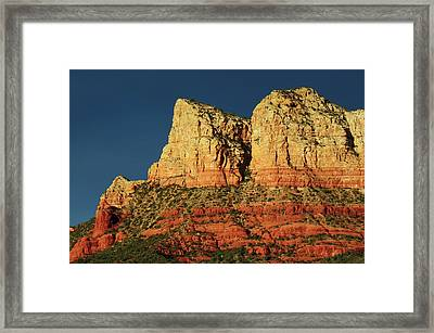 Court House Butte At Sunset Framed Print by Michel Hersen
