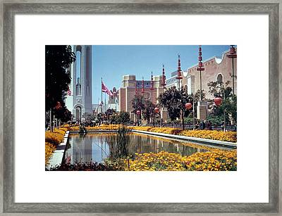 Court Of Reflections At Ggie Framed Print by Underwood Archives