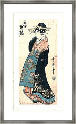 Courtesan Takihashi Ogi-ya 1800 Framed Print by Padre Art