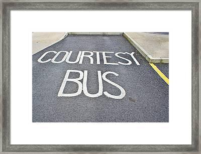 Courtesy Bus Framed Print by Tom Gowanlock