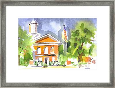 Courthouse Abstractions II Framed Print by Kip DeVore