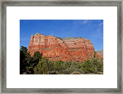 Courthouse Butte Ribboned Red Rocks Framed Print by Jan and Stoney Edwards