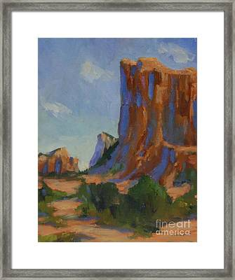 Courthouse Rock II Framed Print by Maria Hunt