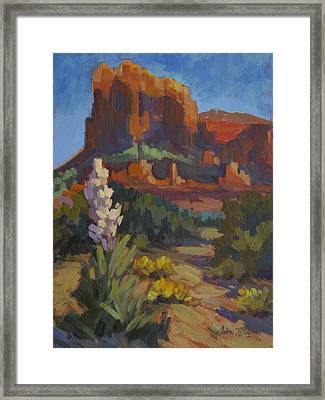 Courthouse Rock Sedona Framed Print by Diane McClary