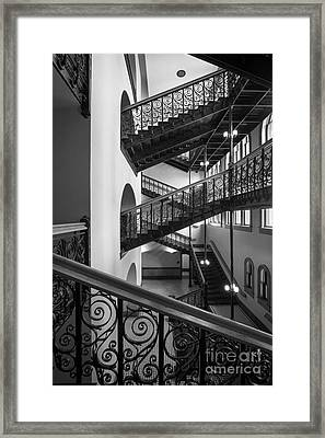 Courthouse Staircases Framed Print by Inge Johnsson